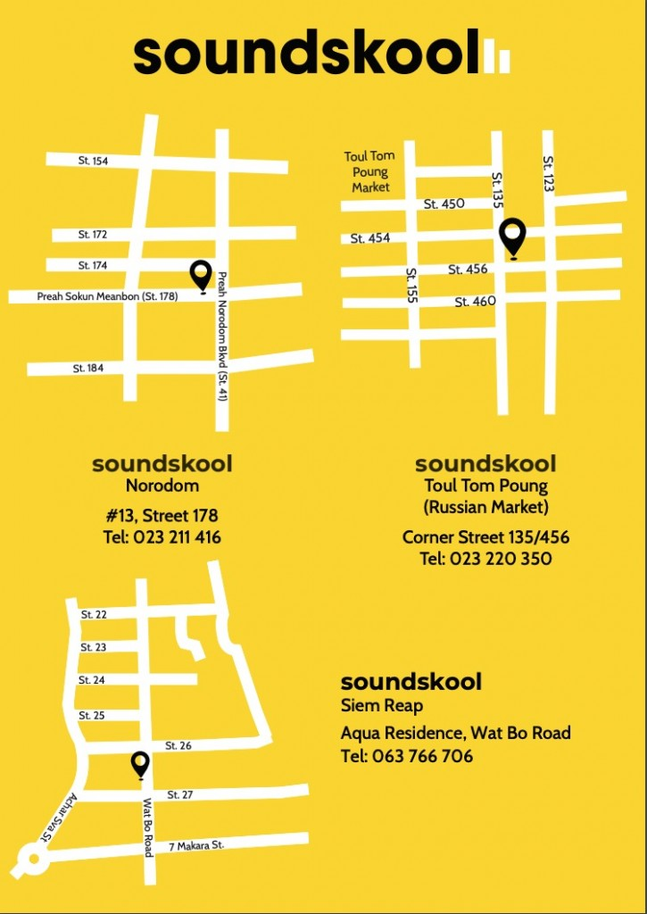 Soundskool locations 2019