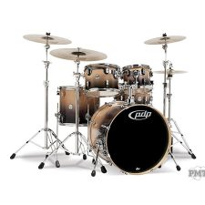 PDP Concept Maple by DW 5-Piece Shell Pack Natural to Charcoal Fade Included Hardware 1299