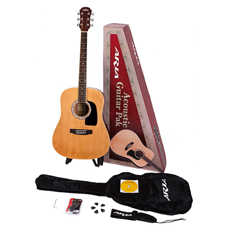Aria AGPN-300 Acoustic Guitar Pakage W/ AWN-15