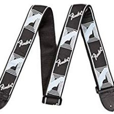 Fender Guitar Strap Monogrammed Black/Grey/Dark Grey