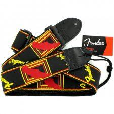 Fender Guitar Strap Monogrammed Black/Yellow/Red