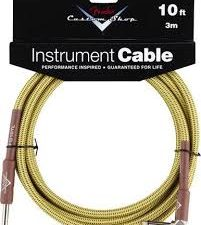 Fender Custom Shop 10' Angled Instrument Cable -tweed