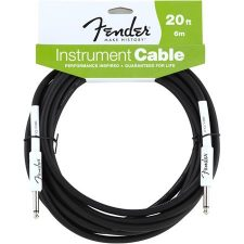 Fender Performance Series 20' Instrument Cable, Black
