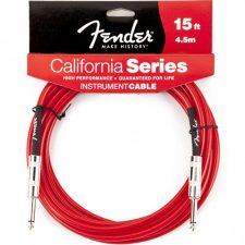 Fender Guitar Cable 15ft 4.5M Instrument Lead Candy Apple Red