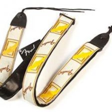 Fender Guitar Strap Monogrammed White/Brown/Yellow