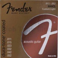 Fender 880CL 80/20 Coated Acoustic Strings, 11-52