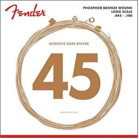 Fender Acoustic Bass Strings PHBRNZ ACOU BASS LS 8060 45-100